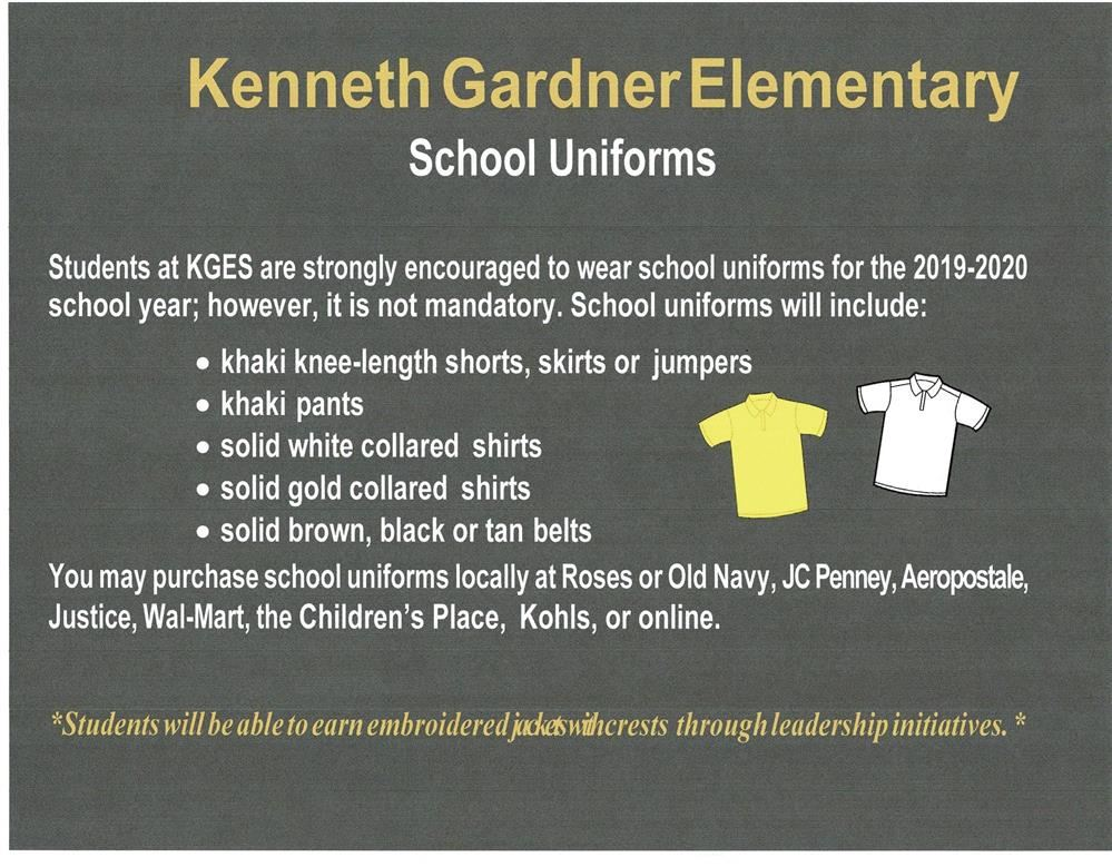 KGES School Uniform Flyer