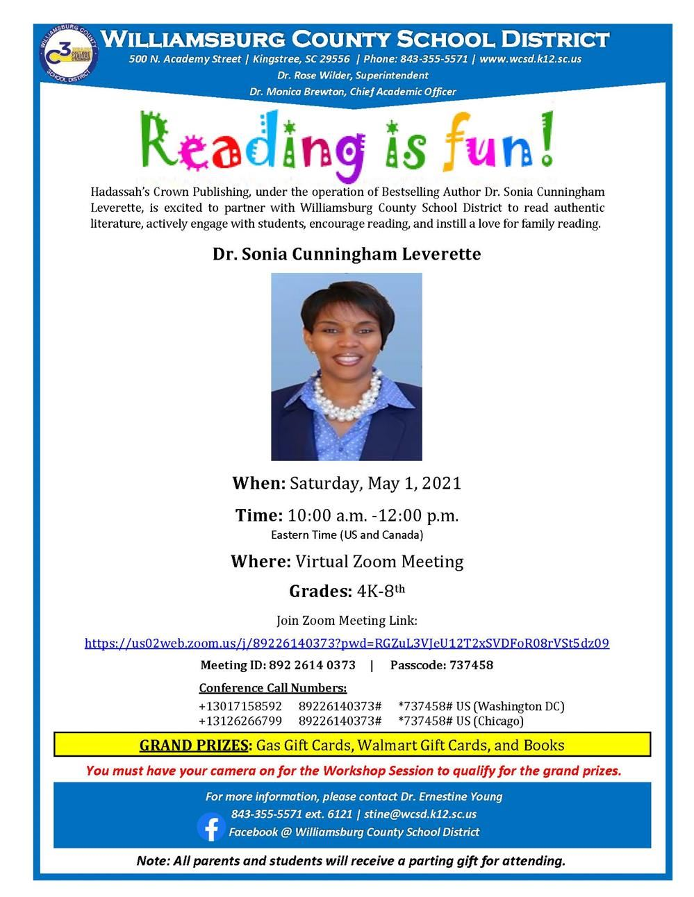 Reading is Fun with Dr. Sonia Cunningham Leverette