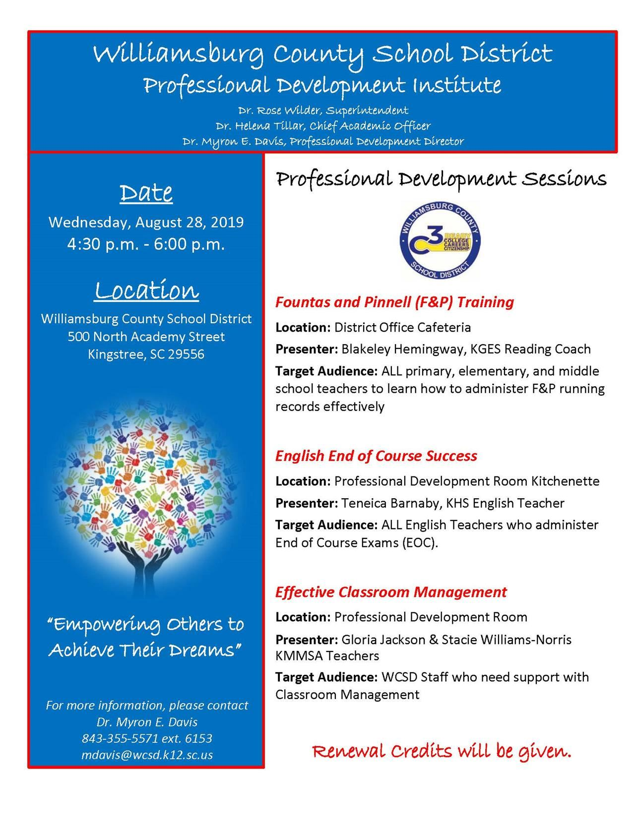Professional Development Opportunties