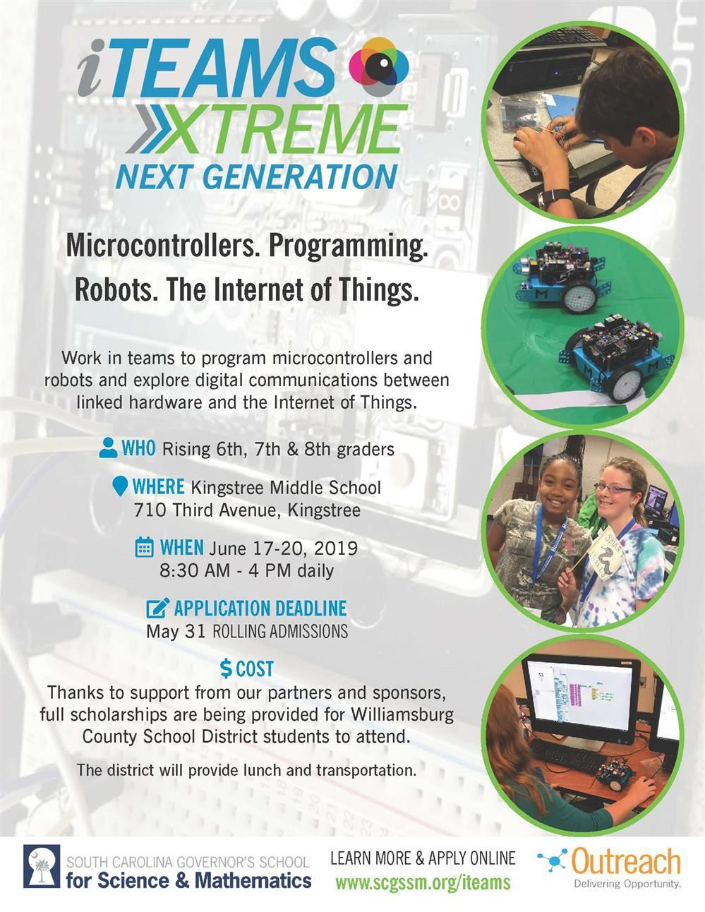 SC Governor's School for Science & Mathematics Summer Camp