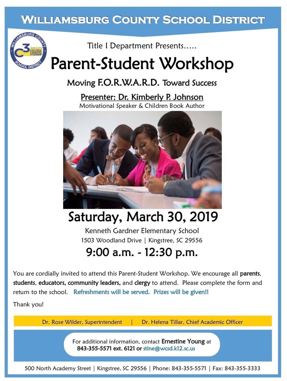 Parent-Student Workshop Announcement