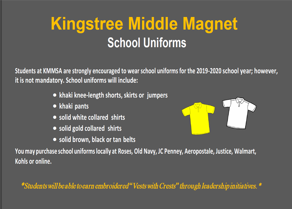 KMMSA School Uniform Flyer